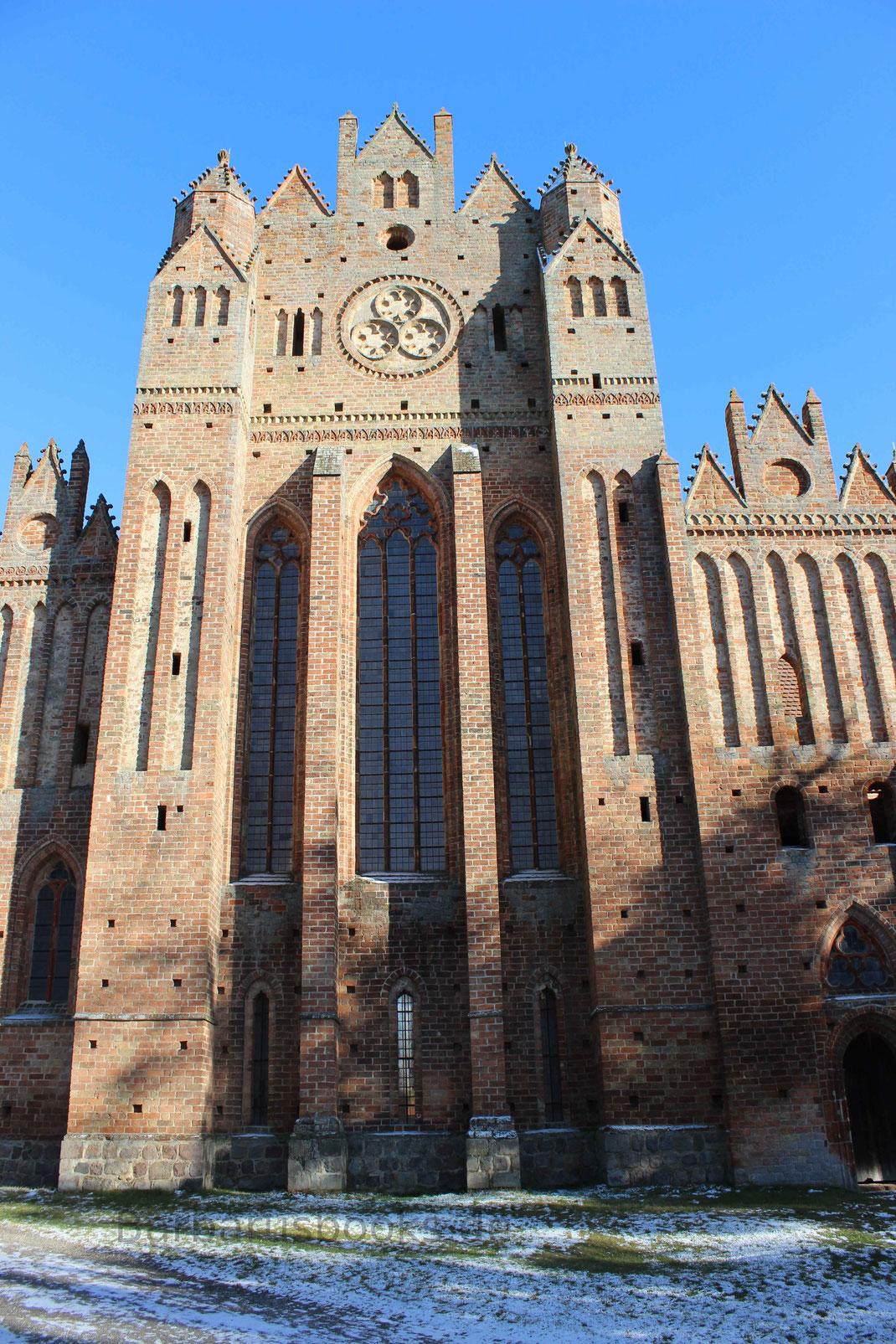 Westliche Ansicht des Giebelfensters Kloster Chorin
