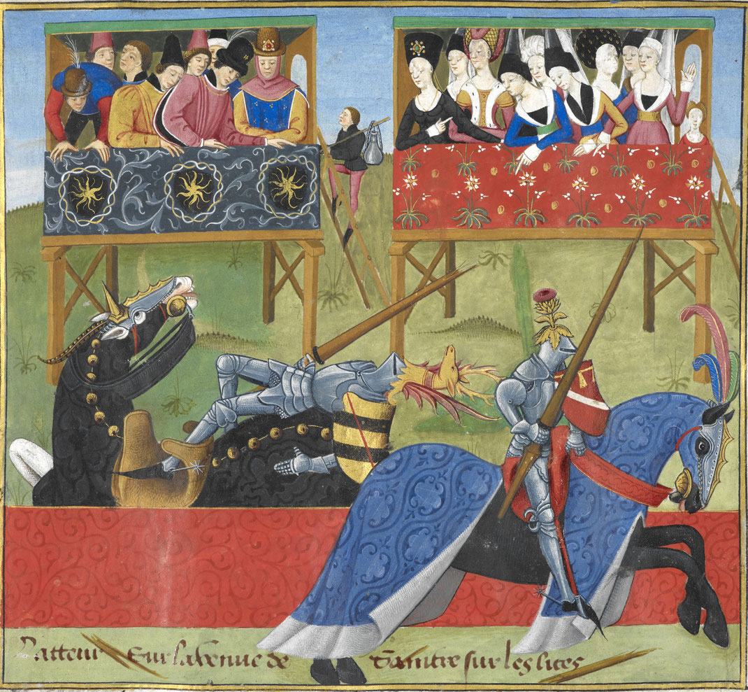 Turnierrennen, Scharfrennen im Mittelalter - Symbolbild