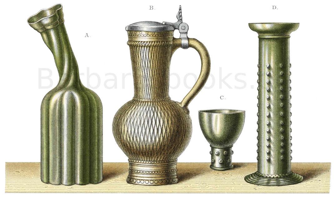 Trinkgeschirre aus der ersten Hälfte des 16. Jahrhunderts.