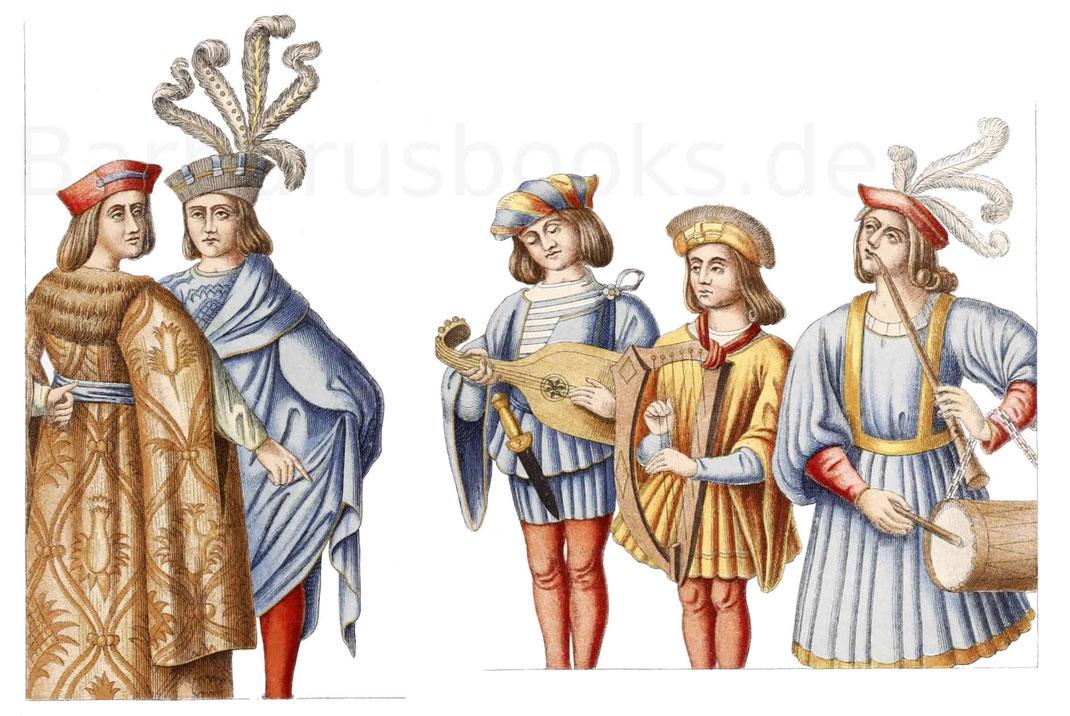Französische Trachten aus dem 15. Jahrhundert.