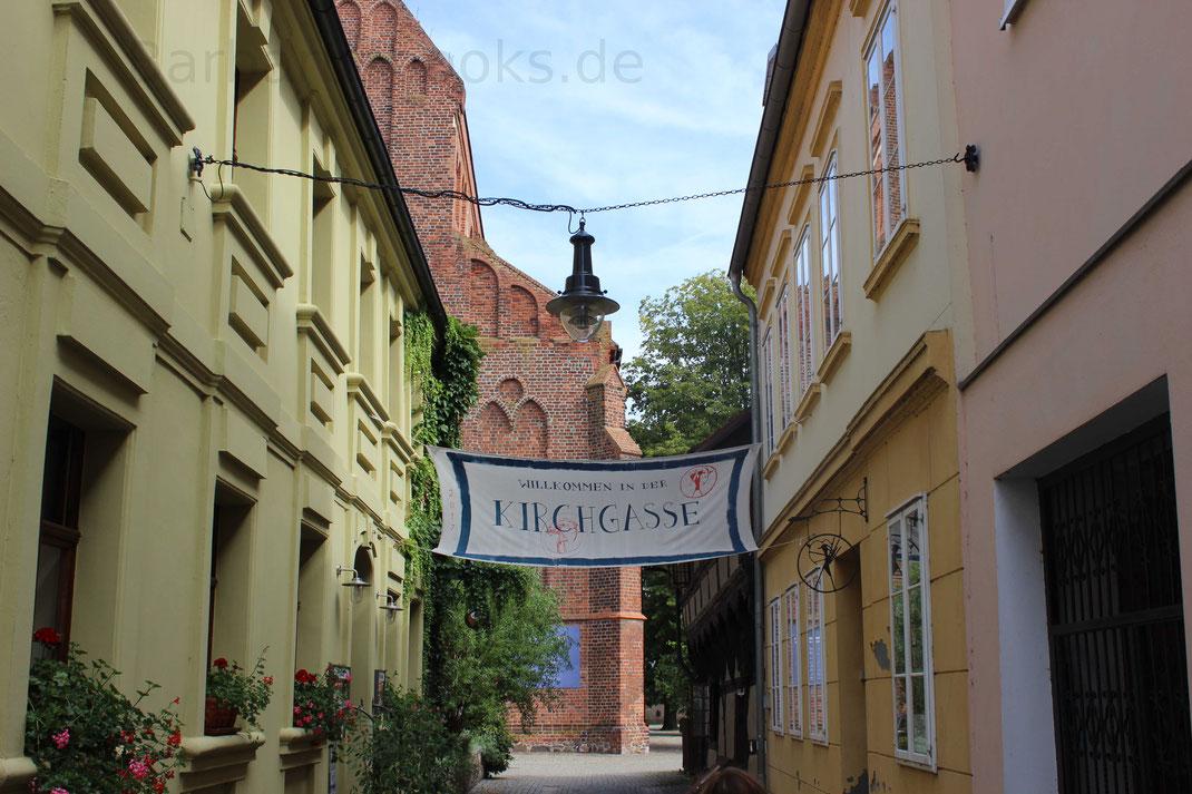 In der Kirchgasse direkt an der St.-Marien-Kirche zu finden