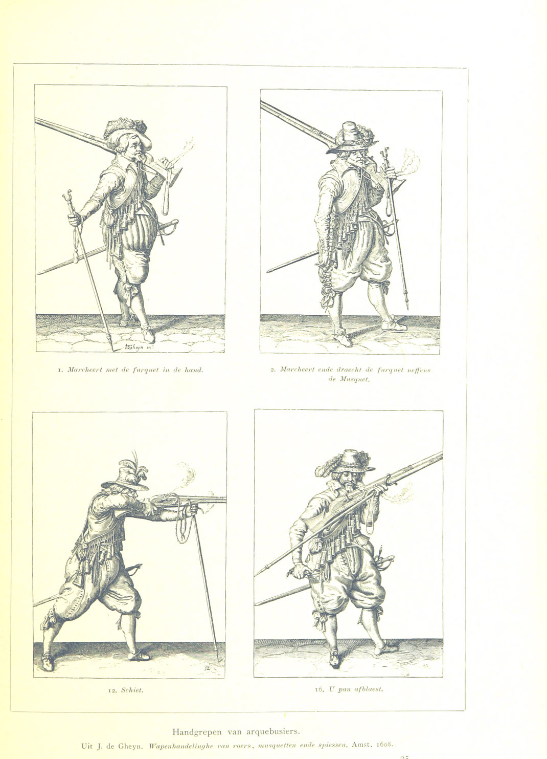 Four pictures of musketeer constellations during the fight