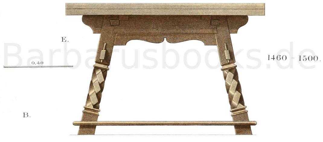 Tisch von 1460 - 1500