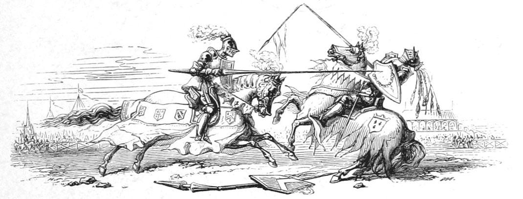 Ritter zu Pferd Stechrennen, Tjost
