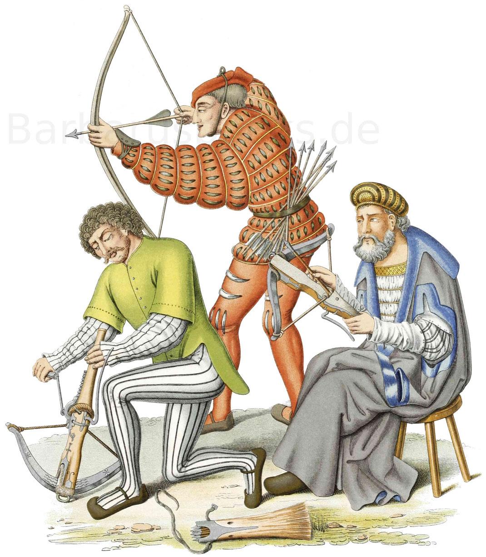 Schützen, nach Figuren eines Ölgemäldes, welches 1514 gefertigt wurde.