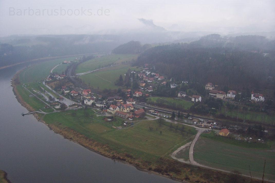Aussicht Bastei auf die Elbe