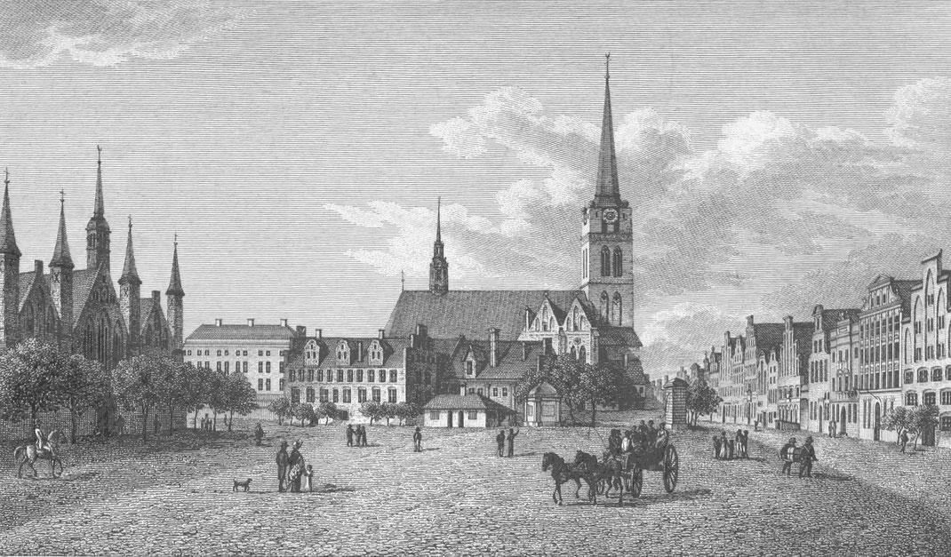 Lübecker Kaufberg im Jahr 1822, Deutsches Reich