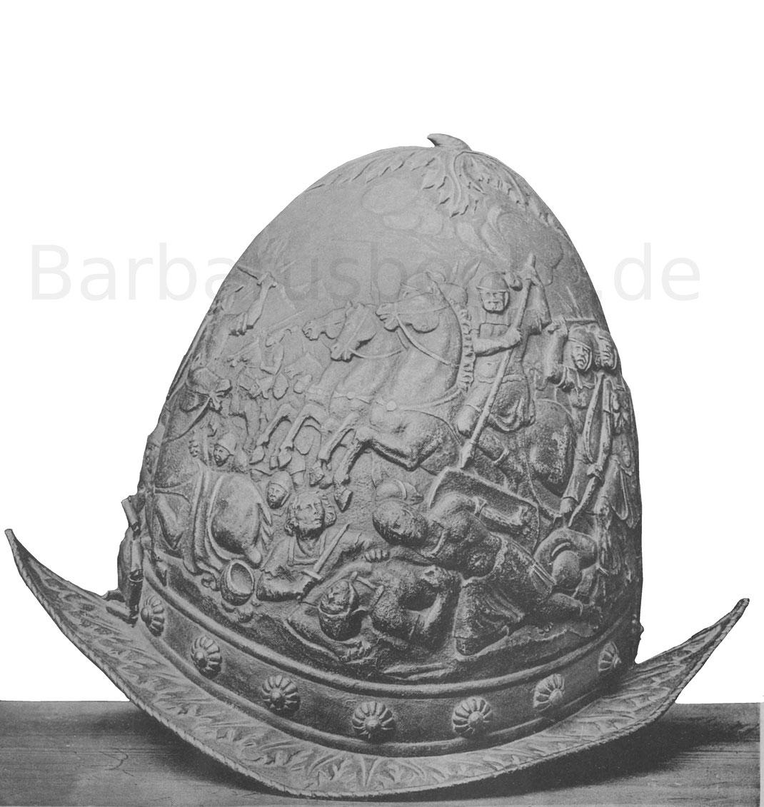 Morion, nicht zu verwechseln mit dem Cabasset, auch Birnhelm oder Schützenhaube genannt.