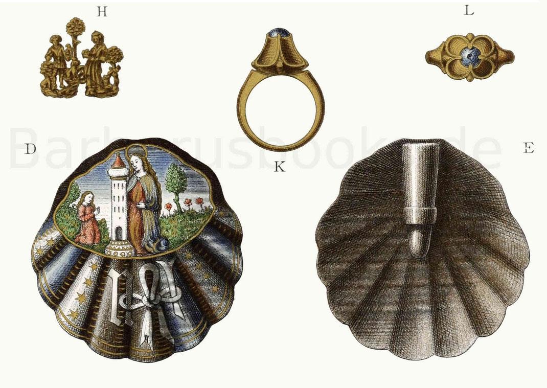 Schmuck vom Ende des 15. und Anfang des 16. Jahrhunderts.