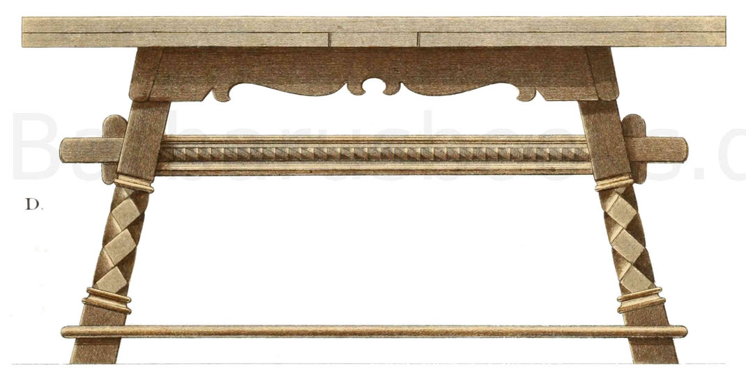 Tisch 15. Jahrhundert Mittelalter Tischler Deutschland