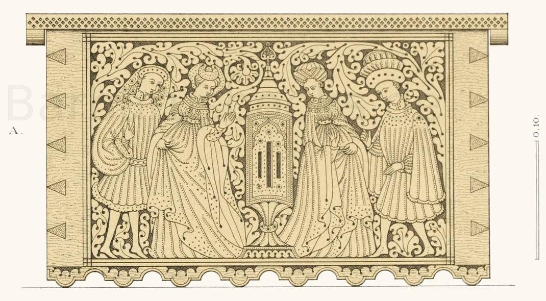 Kästchen aus der zweiten Hälfte des 15. Jahrhunderts.