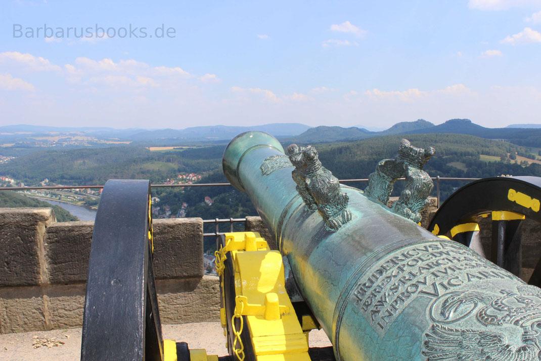 Geschütz auf der Festung Königstein Sachsen