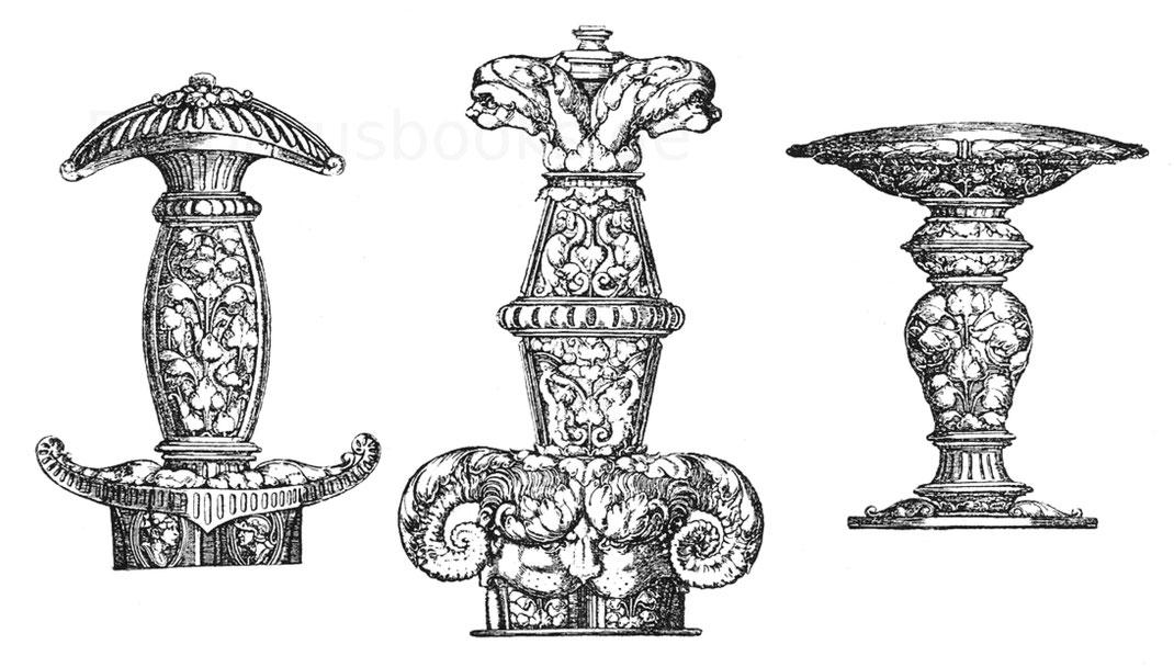 """Von Heinrich Aldegrever, nach """"Formenschatz"""" 1880, Bl. 113 u. 114."""