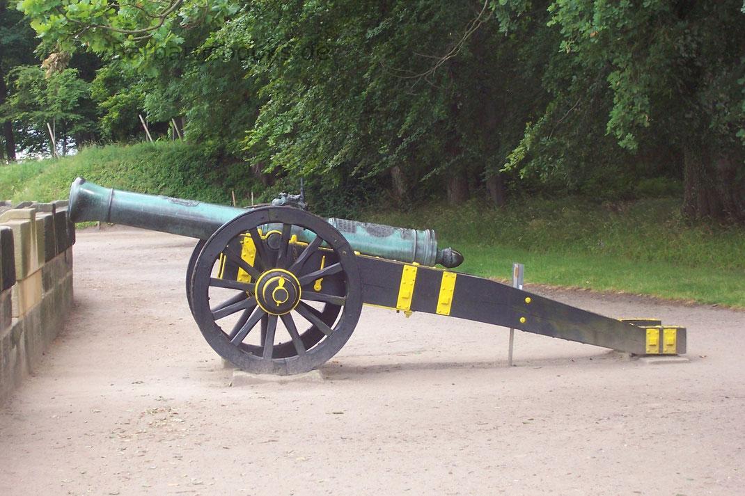 Weiteres Geschütz an der Festungsmauer Königstein Sachsen