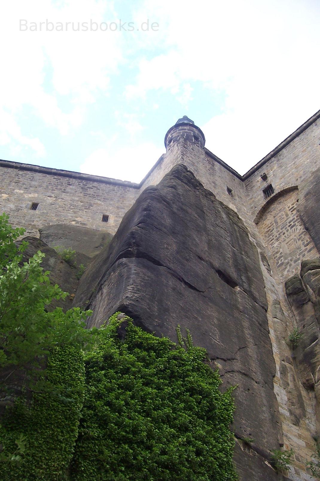 Festungsmauer Königstein Sachsen