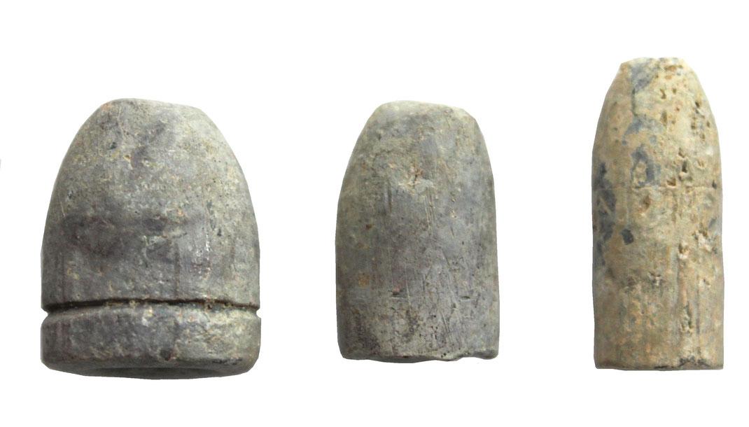Deutschland Vorderlader Munition bestimmen aus Blei (Spitzgeschoss, Bodenfunde).