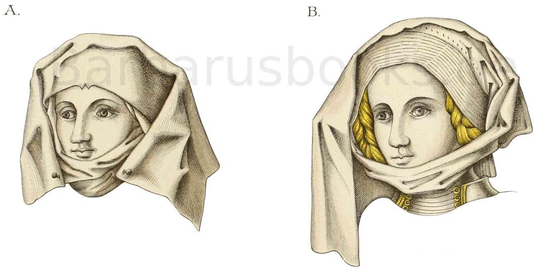 Frauenkopfputz vom Ende des 15. Jahrhunderts.