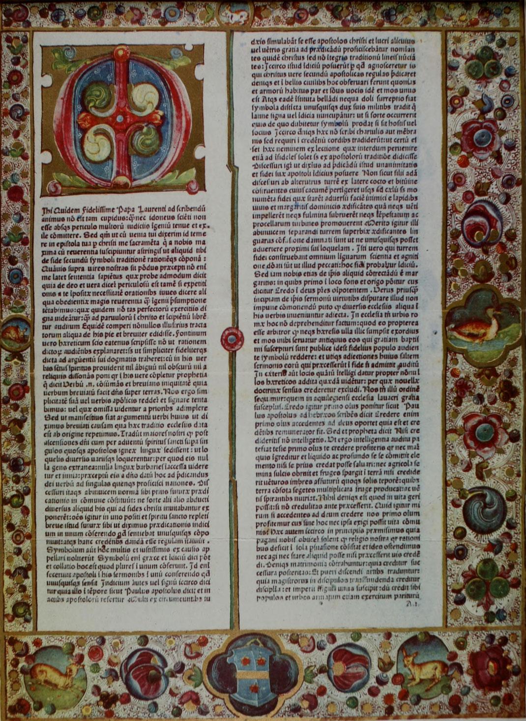 Hieronymus, Epistolae. Veetiis 1476.
