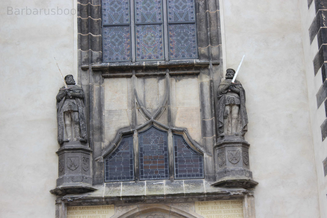 Detailansicht der Schlosskirche zu Wittenberg