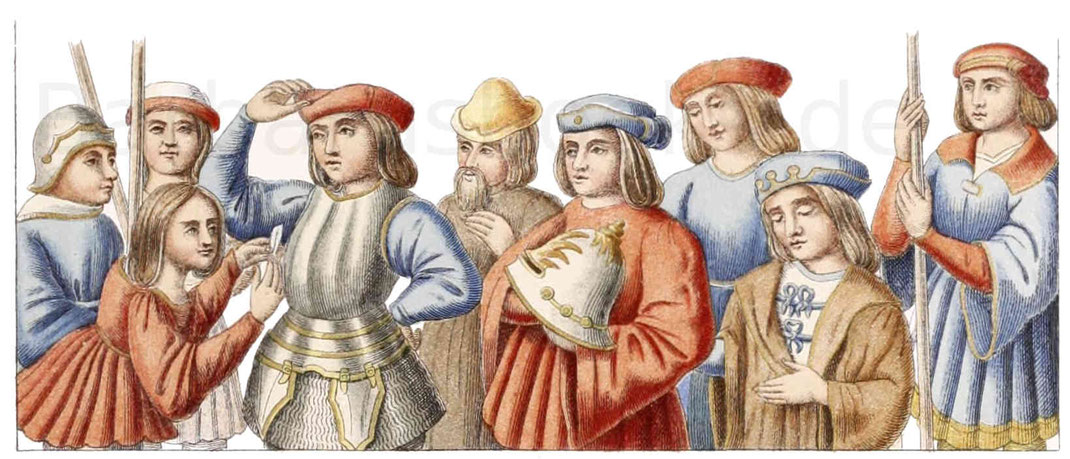 Französische Trachten aus dem 15. Jahrhundert
