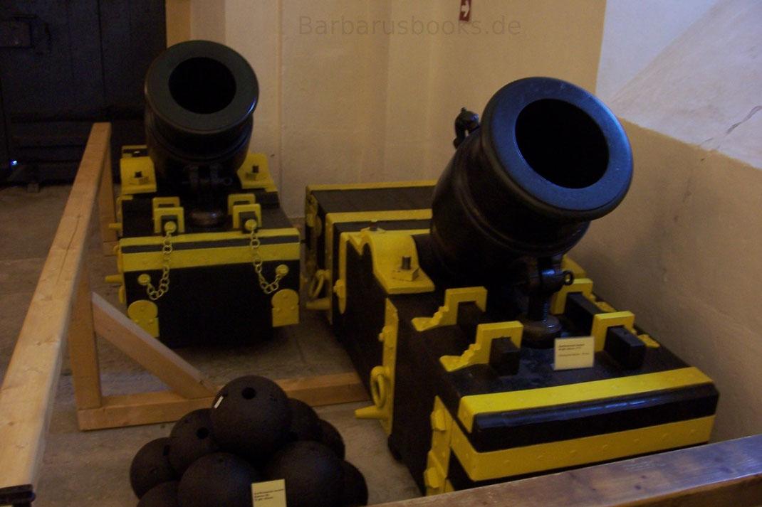 Bombarden Mörser auf der Festung Königstein Sachsen