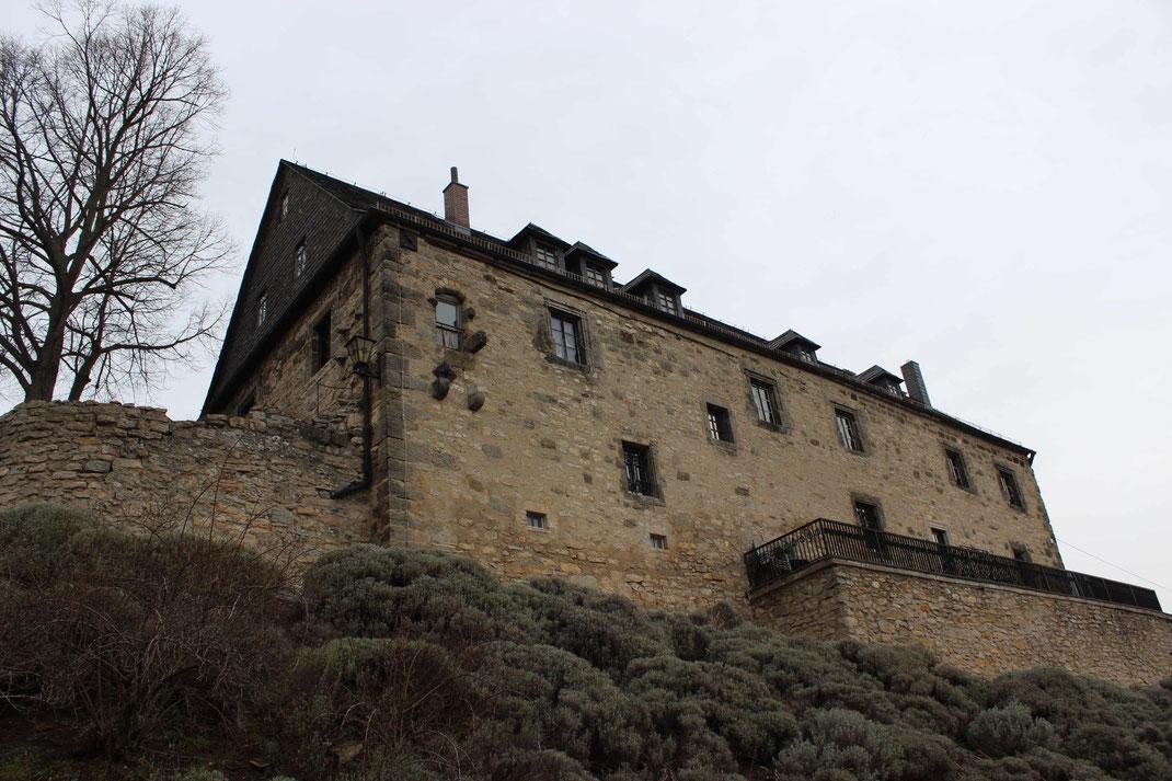 Außenansicht des Palas (Hauptgebäude der Greifenburg)