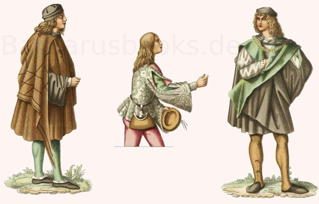 Italienische Trachten aus der zweiten Hälfte des 15. Jahrhunderts.