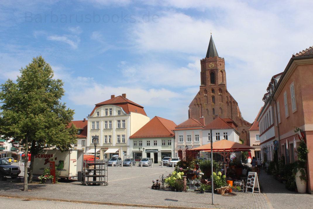 Historischer mittelalterliche Stadtkern Beeskow Brandenburg