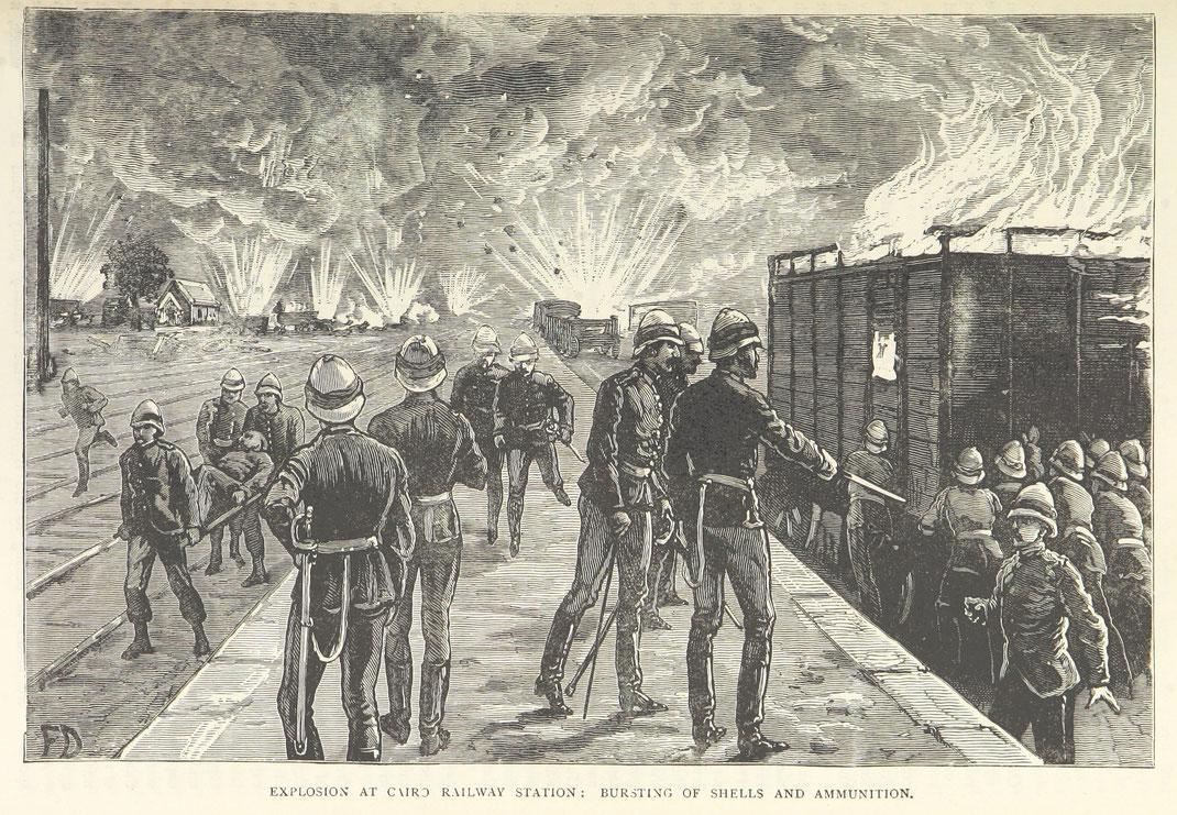 British gunpowder explosion in egyptian War