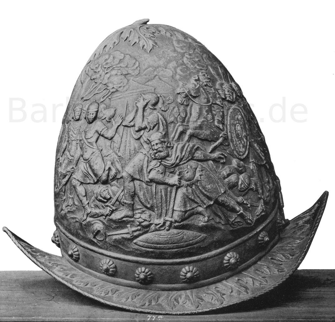 Morionhelm mit ovaler Helmglocke. Italien zweite Hälfte des 16. Jahrhunderts.