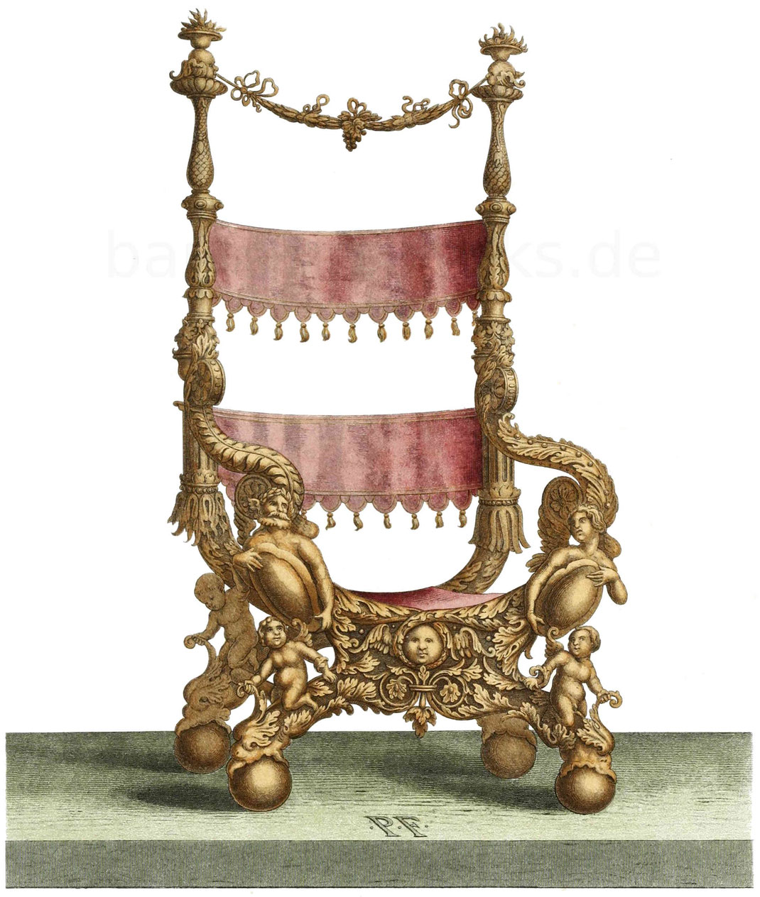 reichverzierter Sessel