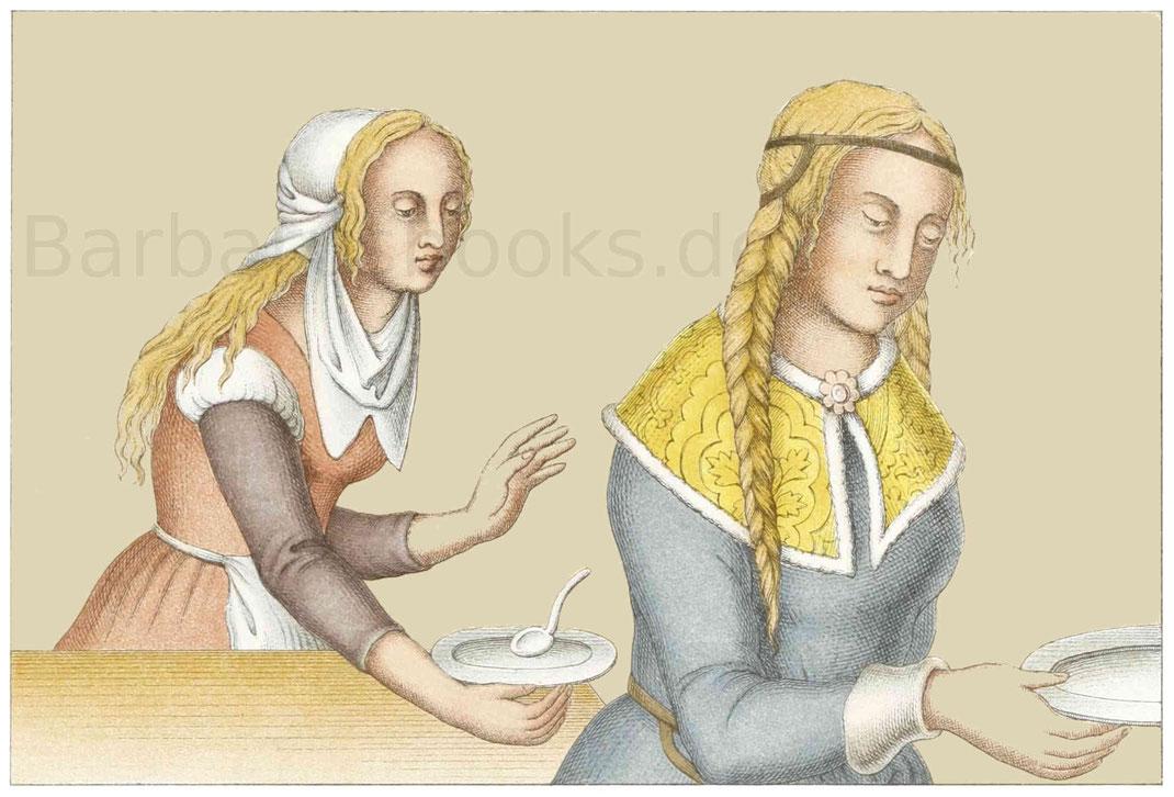 Frauentracht aus der ersten Hälfte des 16. Jahrhunderts.