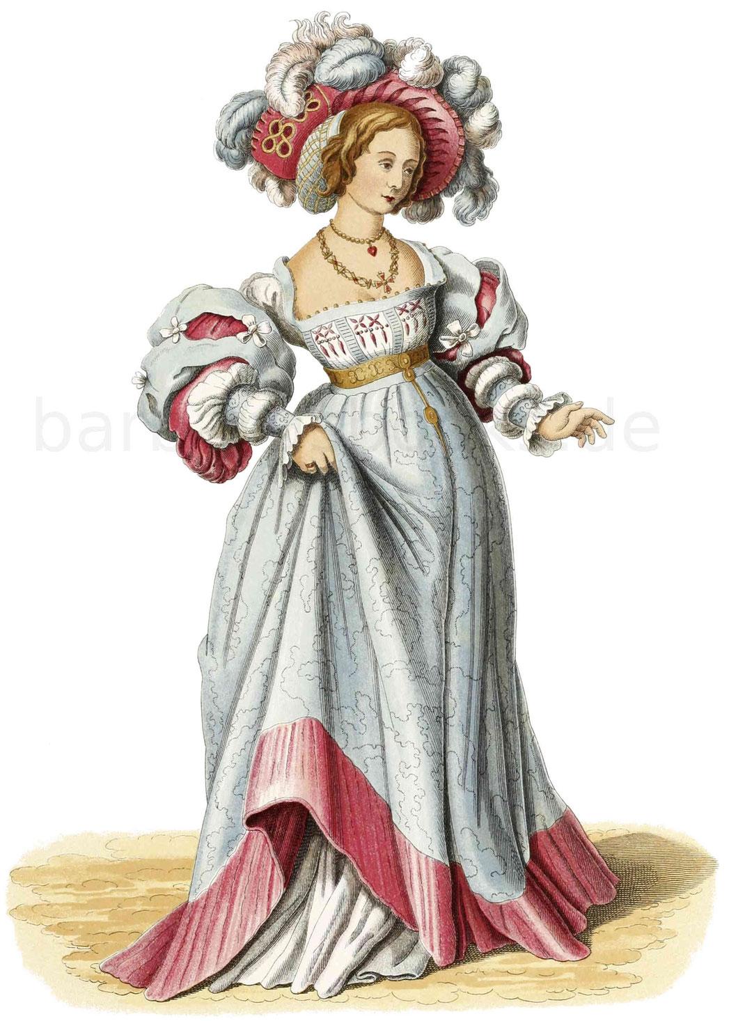 Frauentracht aus der ersten Hälfte des 16. Jahrhunderts