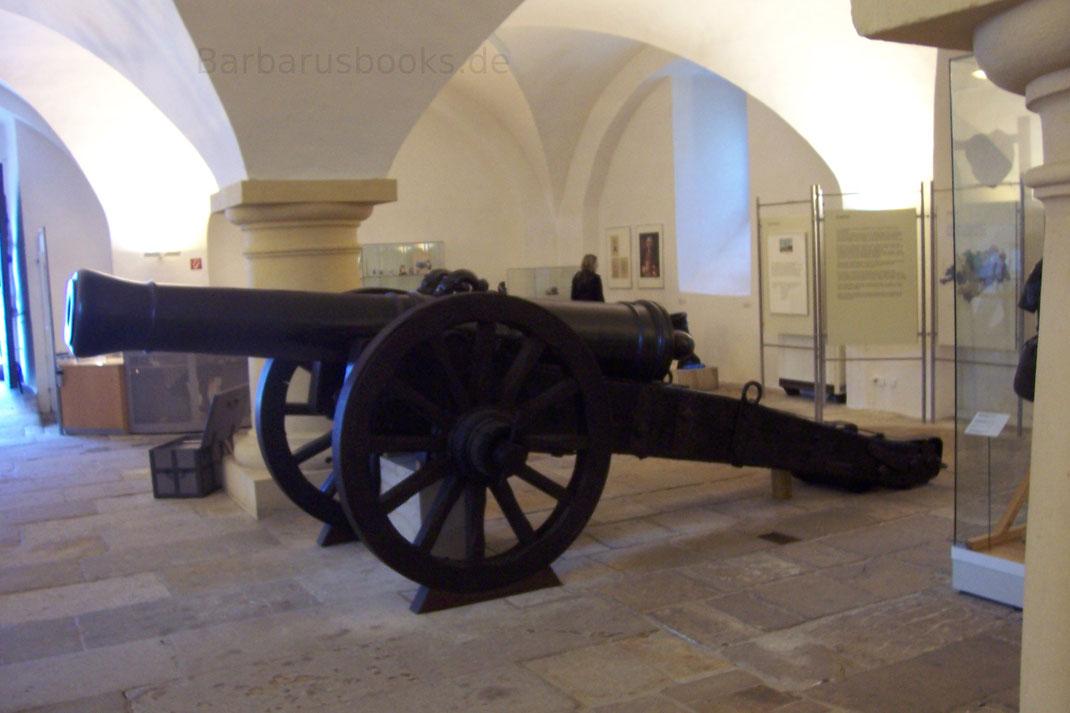Weiteres Geschütz in der Waffenausstellung Festung Königstein Sachsen