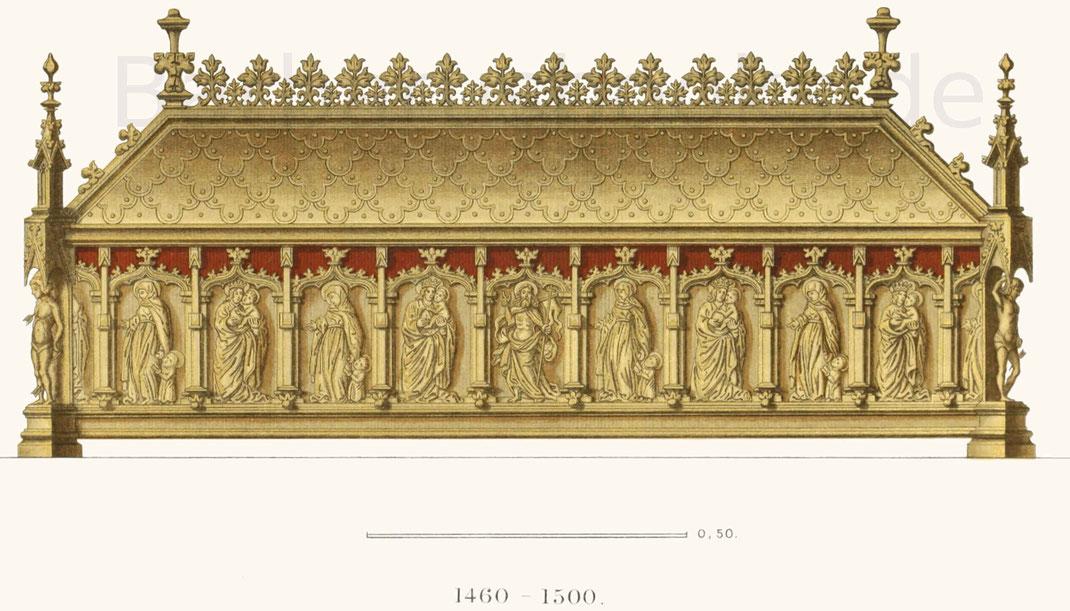 Reliquienschrein aus der zweiten Hälfte des 15. Jahrhunderts.
