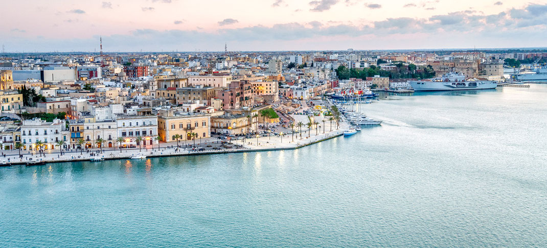 "Brindisi has been known as ""the gateway to the East"", when it became an important port, first for the Roman troops and later for the merchants of Venice. The shoreline is low and sandy for the whole stretch of coast , favored by a mild climate."
