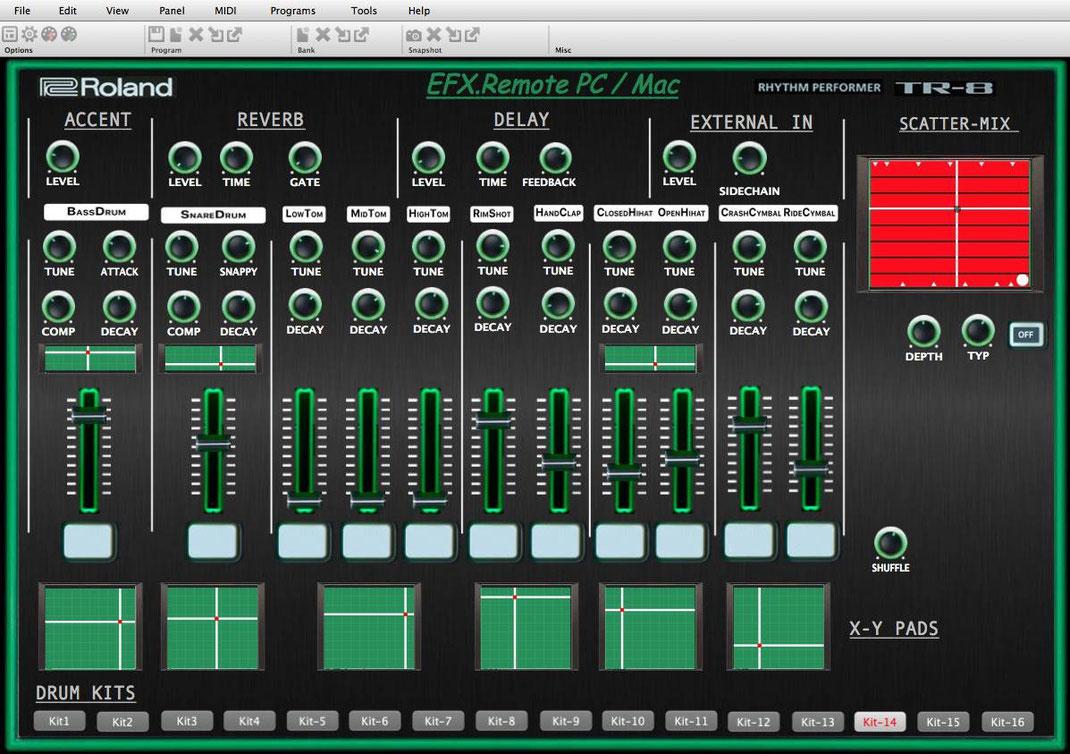 Roland TR-8 Midi Editor/ VST