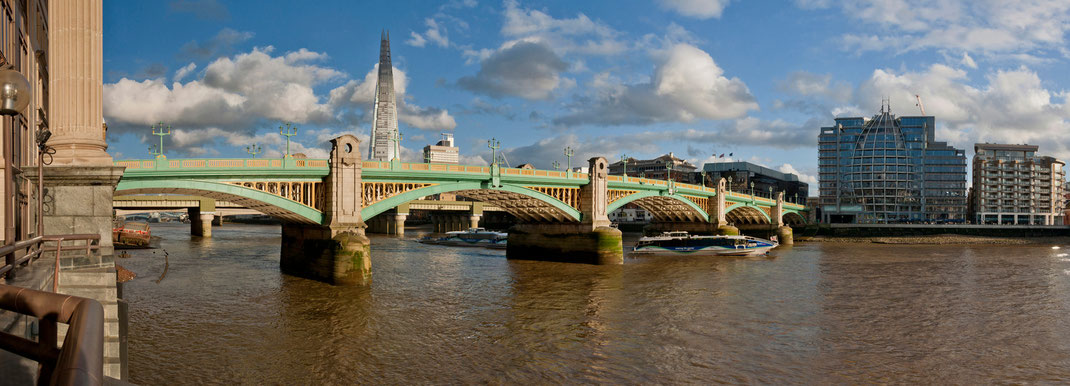 London panorama, Southwark Bridge