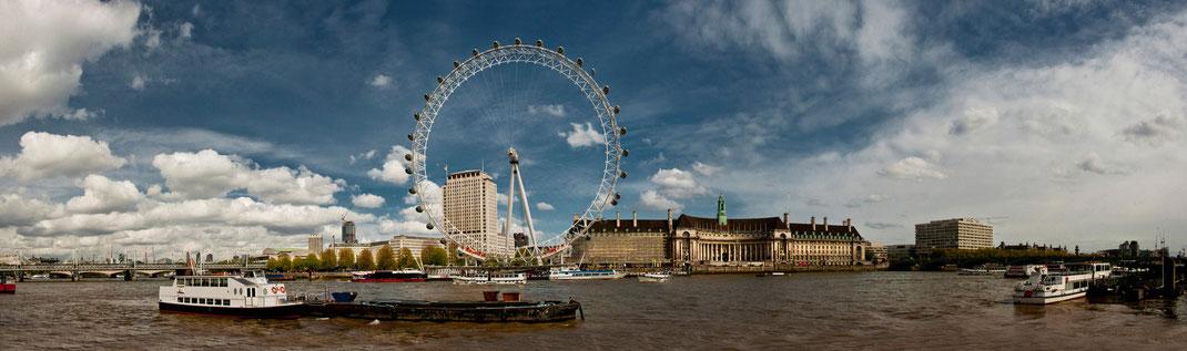 London panorama, London Eye
