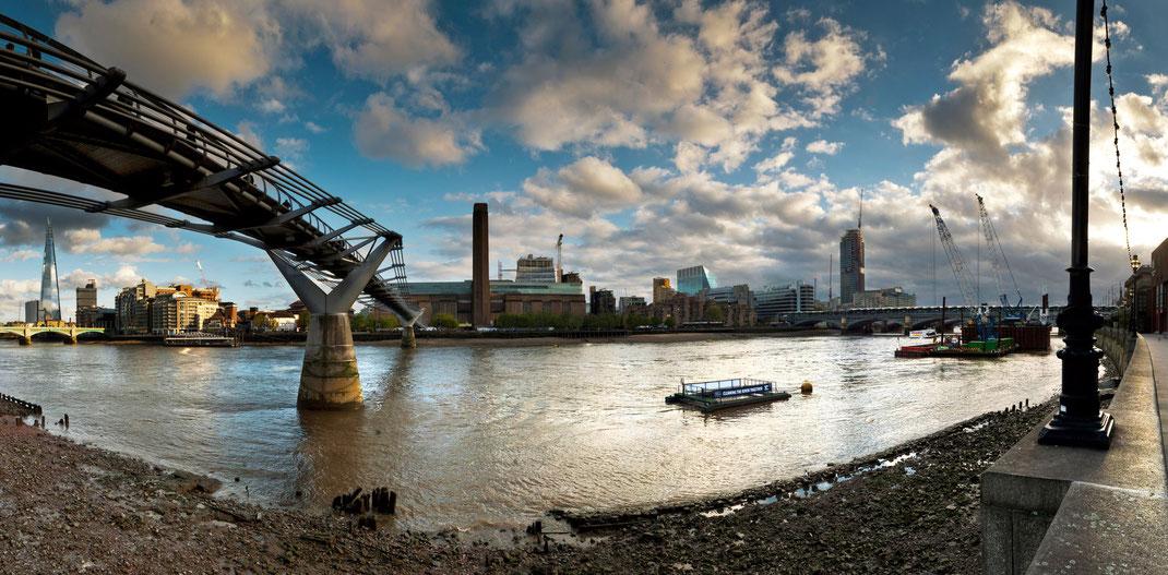Fotoreise London, Millennium Bridge, Tate Modern