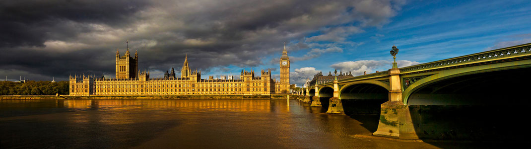 Westminster Bridge and The Houses of Parliaments