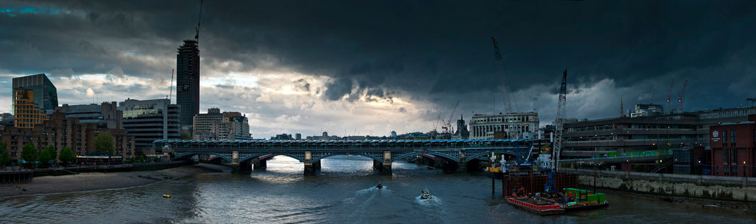 London, London panorama, London panoramic photo, Blackfriars Bridge