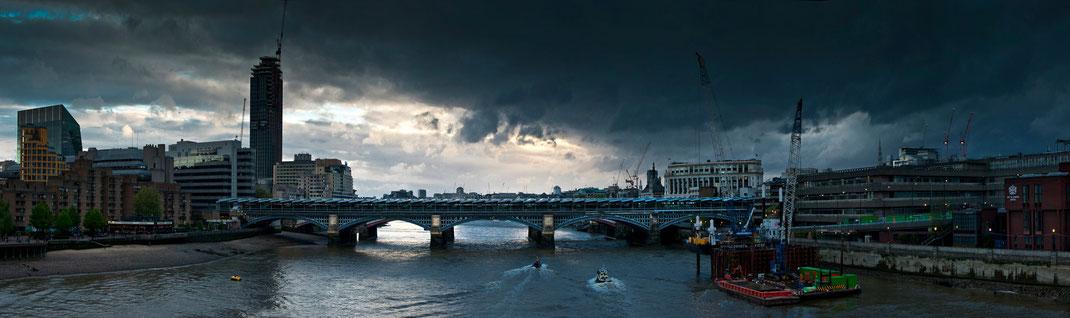 London, London panorama, London panoramic photo, Blackfriars Bridge