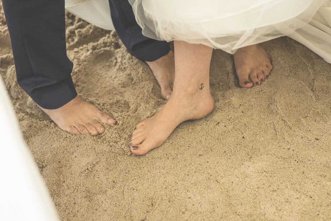Hochzeitsfotograf Hamburg - Heiraten am Strand in Blankenese