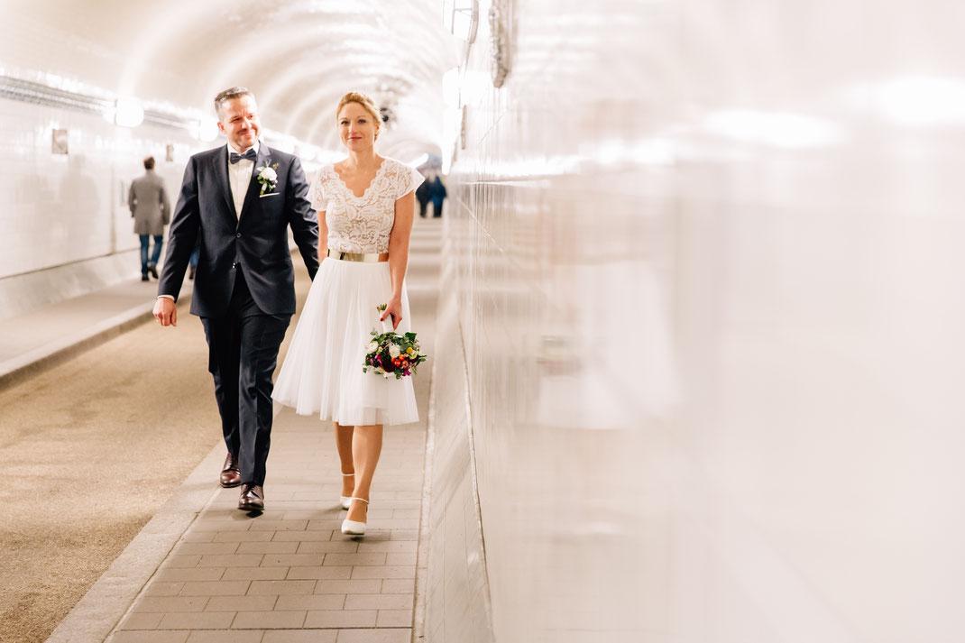 Hochzeitsbild Alter Elbtunnel Hamburg