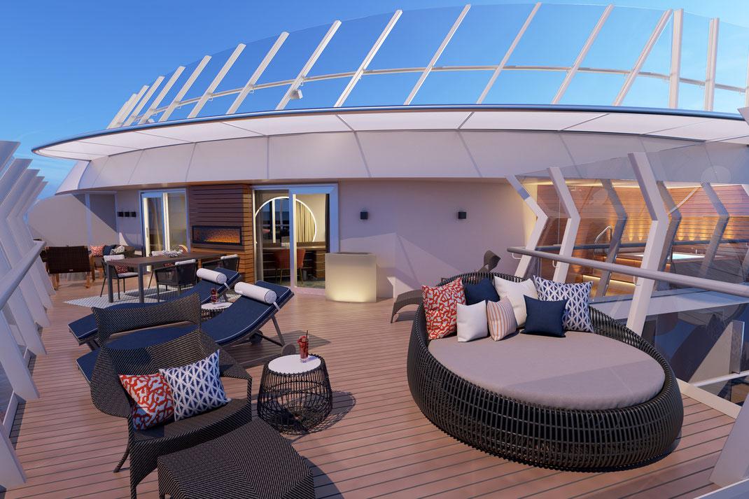 Mardi Gras Carnival Cruise Line Präsidenten-Suite