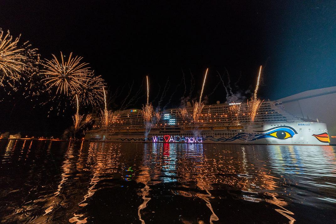 AIDAnova wurde getauft // © AIDA Cruises