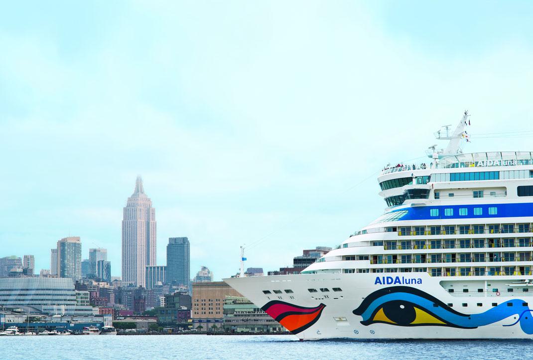AIDAluna in New York // © AIDA Cruises
