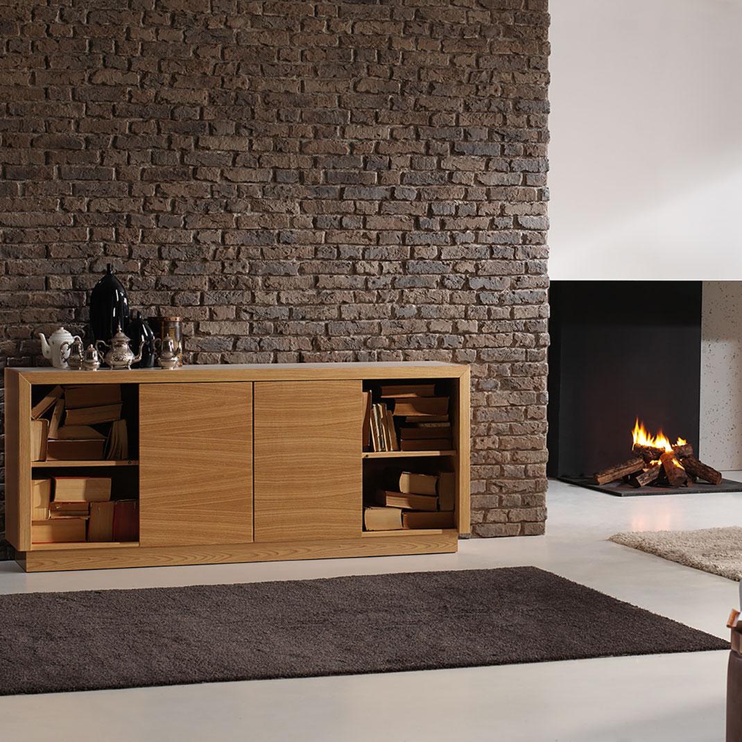Panel Piedra - Serie Brick - Ladrillo Loft Braun - Wohnzimmer Wand