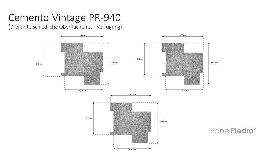 PanelPiedra Serie Cemento - Cemento Vintage PR-940